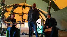 Shaun Escoffery performing Bridge Over Troubled Water