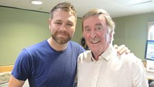 Brian McFadden poses with Terry Wogan