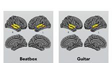 A non-musician's brain lights up....