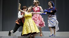 Tommasino (Lama), Lisetta (Torosyan), Doralice (Lupinacci) & Madama La Rose (Lo Monaco) in La gazzetta at the Rossini Festival