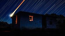 Blood Moon Star Trail