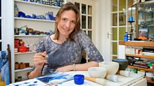 Painting with ultramarine – the brilliant blue pigment extracted from lapis lazuli