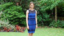 Helen wearing the dress that caused an internet sensation