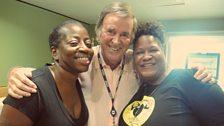 Saun and Starr with Sir Terry Wogan