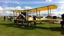 An old plane on show at Sywell in Northamptonshire