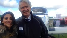 Poonam Taneja and Ferry Pilot Dave Henderson