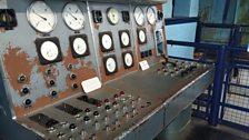 Operating controls in the pump house