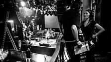 Nikolai Khalezin watches as David Gilmour soundchecks with Boombox