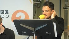 Peter Andre performs two tracks live for Sir Terry.