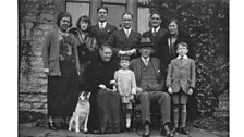 The Rawlins family at Christmas in 1923