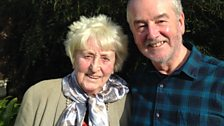 Alice today, with David Almond, at her daughter's house near Carlisle