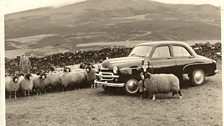 Alice as a young woman at the new farm near Hawes