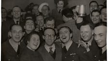 Party in the mess with 'Stinker' Murdoch and Arthur Askey