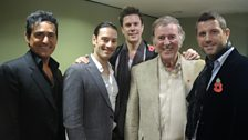 Il Divo with our host!