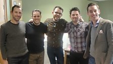 Scouting for Girls pose for a picture