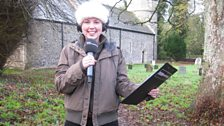 Anna was well-prepared for the day's cold conditions, with her Dr Zhivago-style hat!