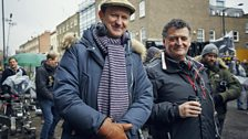 Mark Gatiss & Steven Moffat on location