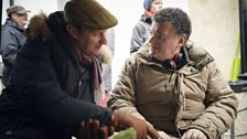 Mark Gatiss & Steven Moffat compare notes between shots