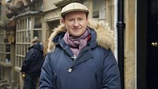 Mark Gatiss on location