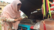 When Shamim first learned to drive she realised she was good at it and wanted to improve