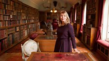 Kirsty Young Filming in the Long Library, Sandringham