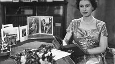 The Queen's first televised message in 1957.