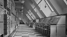 One of the first radio control rooms at the new Broadcasting House in 1932.