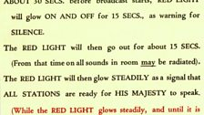 Light signals 1932 used for the first Christmas broadcast in 1932