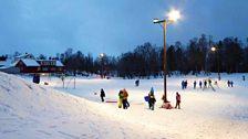 In the playground at Prestvannet skole