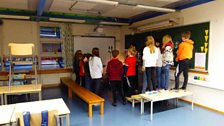 In the classroom at Prestvannet skole