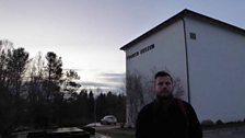 Petroc outside the Tromsø Museum