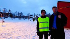 Petroc with Sauli Guttorm, teacher at the Prestvannet skole