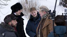 James Norton as Prince Andrei, Jim Broadbent as Prince Bolkonsky & Tom Harper (director)