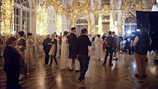 Filming in the ballroom, Catherine Palace