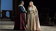 Tannhäuser (Johan Botha) & Elisabeth (Eva-Maria Westbroek) in Tannhäuser from the Metropolitan Opera, New York