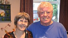 Mandy with neighbour Malcolm