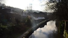 Mandy and Paul's home backs on to this canal in Todmorden