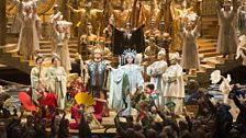 A scene from Franco Zeffirelli's production of Puccini's Turandot from the Metropolitan Opera, New York