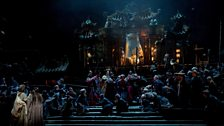 A scene from Act I of Turandot from the Metropolitan Opera, New York