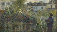Auguste Renoir, Monet Painting in His Garden at Argenteuil, 1873