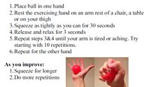 Hand or thumb exercise