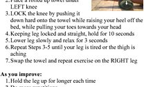 Knee, towel assisted exercise