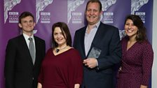 'In and Out of the Kitchen' won Best Scripted Comedy Drama, recieved by Justin Edwards and the team, presented by Ruth Jones