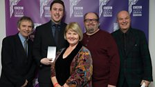Edward Rowett, Gordon Kennedy & team won Best Scripted Comedy with a Live Audience, awarded by Annette Badland
