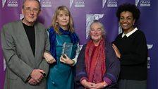 Tom Davis, Rosie Boulton & Deirdre Burton won Best Online Only Audio Drama presented by Adjoa Andoh
