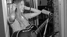 Heidi Feek in the studio