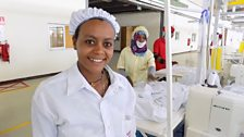 Alem, 24, who has been promoted to Sewing Supervisor