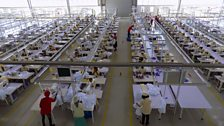 The C&H Garments factory is one of 22 sheds in the Bole Lemi industrial park