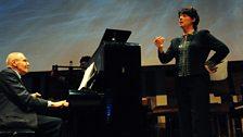 György Kurtág at the piano with Hilary Summers