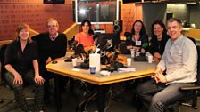 The presenters and guests in the studio
